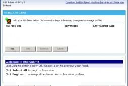 最新RSS Submit 5 白帽SEO软件RRS提交 企业外贸推广 网站rss批量提交工具