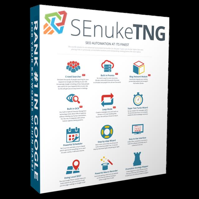 SEnuke TNG 专业版英文外链SEO优化软件SEnukeXCr全新升级 永久升级