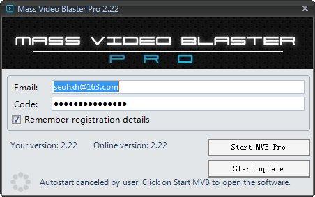 Mass Video Blaster Pro 永久更新 – Youtube营销工具-批量上传视频伪原创