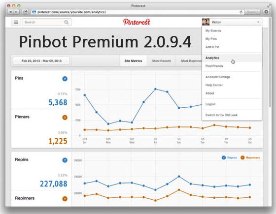 Pinbot 2.0.9.7 Premium – Pinterest自动营销推广工具