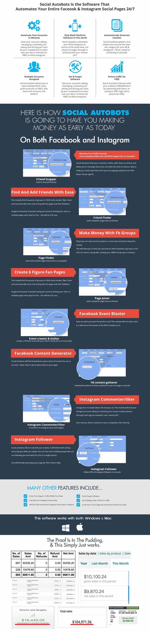 最新Social Autobot营销工具 Facebook and Instagram Bot