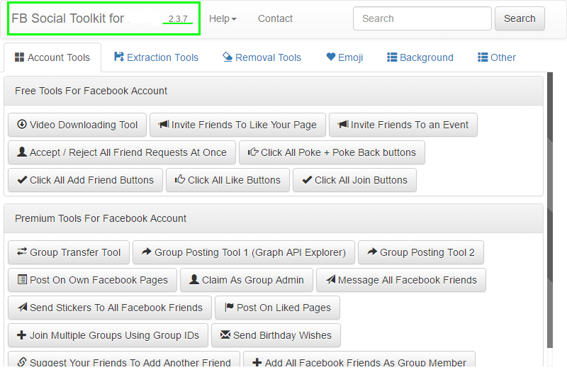 Facebook Social ToolKit综合工具 外贸网站推广facebook营销软件