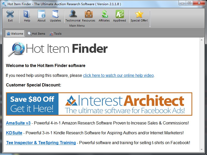 ebay hot item finder关键字搜索排名热门产品外贸营销推广软件